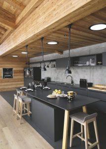Cocinas negras y elegantes