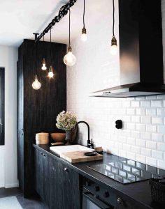 diseño de cocinas negras para particulares