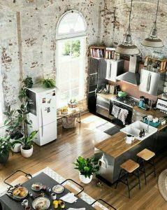 diseño de salon cocina industrial