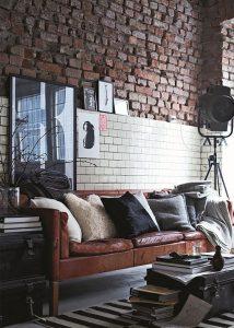 estilo industrial muebles desgastados